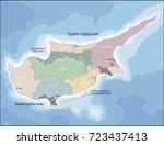 map of cyprus | Shutterstock .eps vector #723437413