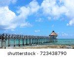 Tropical Pier Near Cancun And...