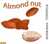 almond nut. almond isolated on... | Shutterstock .eps vector #723439216