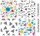 seamless geometric pattern in... | Shutterstock .eps vector #723440140