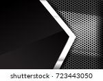 metallic steel and honeycomb... | Shutterstock .eps vector #723443050