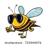 funny bee wearing sunglasses ...
