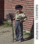young chimney sweep | Shutterstock . vector #723449896