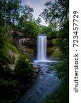 minnehaha falls in minneapolis  ... | Shutterstock . vector #723457729