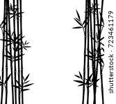 bamboo background. vector   Shutterstock .eps vector #723461179