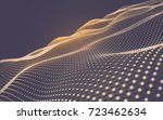 abstract polygonal space low... | Shutterstock . vector #723462634