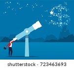 star and business goals | Shutterstock .eps vector #723463693