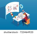 businesswoman | Shutterstock .eps vector #723464920