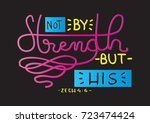 hand lettering not by my... | Shutterstock .eps vector #723474424