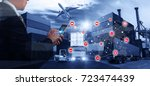 smart technology concept with... | Shutterstock . vector #723474439