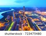 industrial zone. industrial... | Shutterstock . vector #723475480