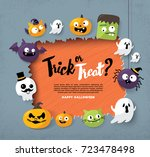 happy halloween | Shutterstock .eps vector #723478498