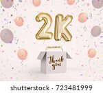 2k  2000 followers thank you... | Shutterstock . vector #723481999