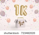 1k  1000 followers thank you... | Shutterstock . vector #723482020