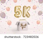 5k  5000 followers thank you... | Shutterstock . vector #723482026