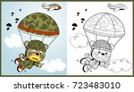 funny paratroopers  vector... | Shutterstock .eps vector #723483010