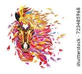 horse geometric pattern ... | Shutterstock .eps vector #723485968