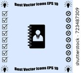 notebook icon  organizer vector ... | Shutterstock .eps vector #723487309