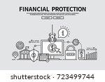 flat line vector editable... | Shutterstock .eps vector #723499744