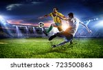 soccer best moments. mixed media   Shutterstock . vector #723500863