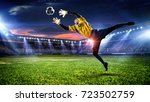 soccer best moments. mixed media | Shutterstock . vector #723502759