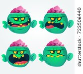 vector set of four cartoon... | Shutterstock .eps vector #723506440