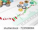 cryptocurrency exchange trades. ... | Shutterstock . vector #723508084