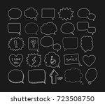 bubble speech doodle | Shutterstock .eps vector #723508750