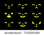 set pumpkins for halloween | Shutterstock .eps vector #723509200