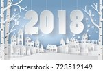 happy new year and winter... | Shutterstock .eps vector #723512149