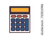 calculator math device   Shutterstock .eps vector #723512986