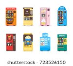 cartoon vending machine set... | Shutterstock .eps vector #723526150