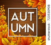 vector illustration of autumn... | Shutterstock .eps vector #723530908