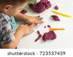 little boy moulds from... | Shutterstock . vector #723537439