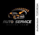 auto racing logo car logo ... | Shutterstock .eps vector #723538264