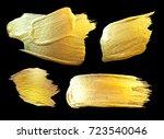 gold watercolor texture paint... | Shutterstock . vector #723540046