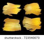 gold watercolor texture paint... | Shutterstock . vector #723540073