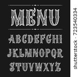 hand drawn label font for... | Shutterstock .eps vector #723540334