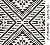 black and white tribal vector... | Shutterstock .eps vector #723540766