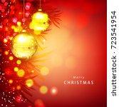 christmas typographical... | Shutterstock .eps vector #723541954