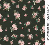fashion seamless pattern with... | Shutterstock .eps vector #723542740