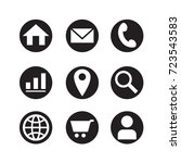icon web in black circle  vector | Shutterstock .eps vector #723543583