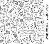 black and white seamless...   Shutterstock .eps vector #723543970