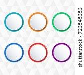 button or badge set. vector... | Shutterstock .eps vector #723545353