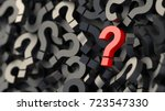 black and red question marks... | Shutterstock . vector #723547330