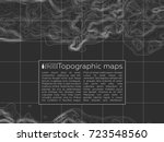 background of the topographic... | Shutterstock .eps vector #723548560