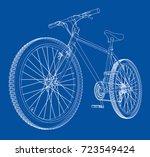 bicycle. vector rendering of 3d.... | Shutterstock .eps vector #723549424