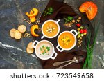concept of healthy vegetable... | Shutterstock . vector #723549658