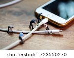 phone charger wire is broken | Shutterstock . vector #723550270