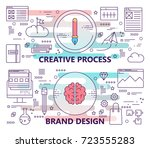 set of banners with creative... | Shutterstock . vector #723555283